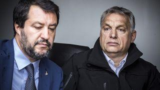 Orbán Viktor miniszterelnök és Matteo Salvini olasz belügyminiszter, miniszterelnök-helyettes határszemlén Röszkénél 2019. május 2-án