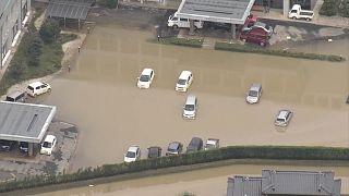 L'ouest du Japon sous les eaux après des pluies torrentielles