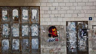 ملصق لناجي العلي في رام الله- الضفة الغربية