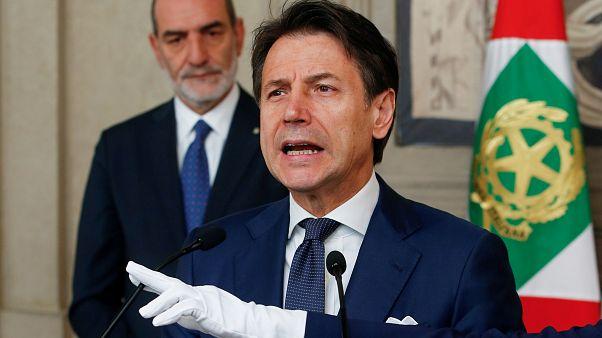 Giuseppe Conte no Palácio do Quirinal