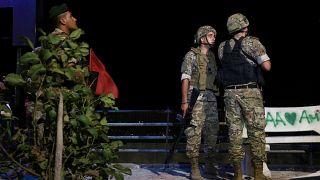 جنود لبنانيون في قرية العديْسة الجنوبية الحدودية