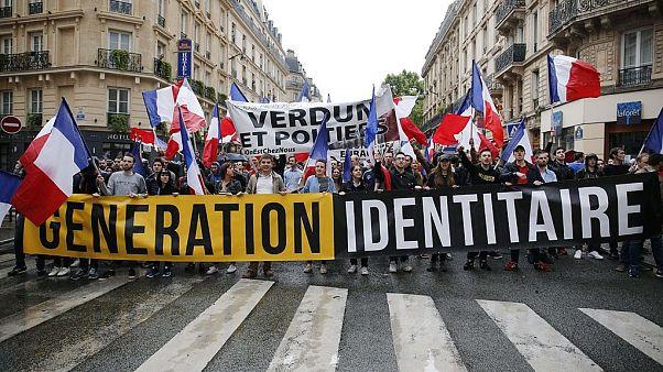 """من احتجاج لمنظمة """"جيل هوياتي"""" في فرنسا في تشرين الثاني/نوفمبر 2017"""