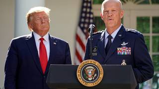 U.S. President Trump hosts U.S. Space Command launch event at the White House in Washington