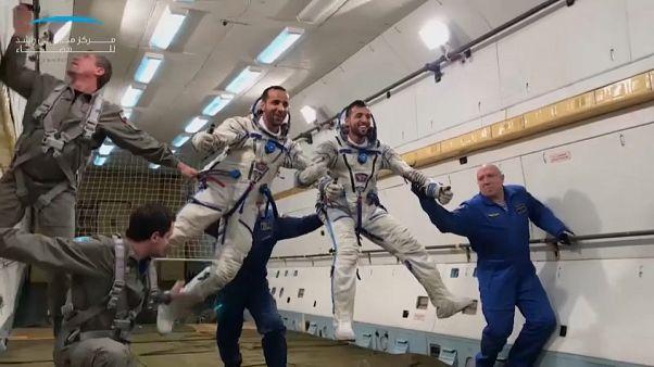 شاهد: أول رائد فضاء إماراتي يتدرب مع فريق محطة الفضاء الدولية