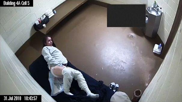 عکس گرفته شده از ویدئوی نظارتی زندان