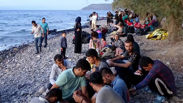 Άφιξη μεταναστών και προσφύγων στη Λέσβο (αρχείου)
