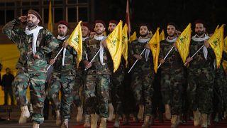 أعضاء بحزب الله اللبناني في بيروت يوم 31 مايو أيار 2019.