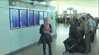 Huelga de aviones y trenes en España