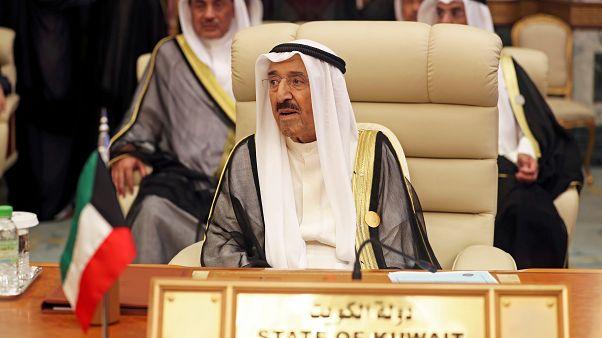 أمير الكويت الشيخ صباح الأحمد الصباح أثناء قمة عربية في مكة يوم 31 أيار/مايو 2019