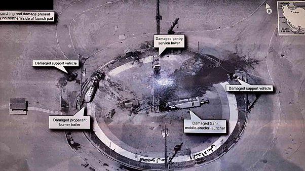 تصویری که دونالد ترامپ از انفجار در سایت موشکی سمنان در توییتر خود منتشر کرده است