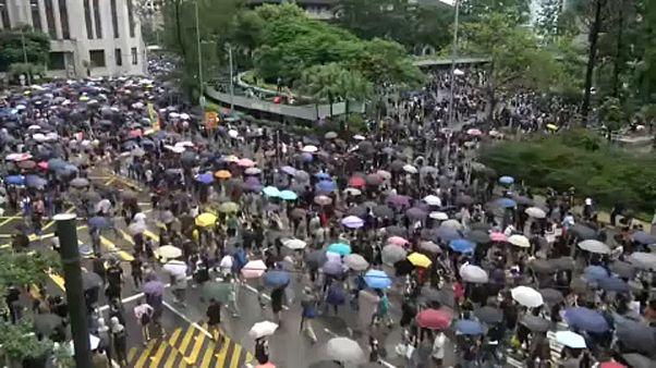 Mégis tüntettek Hongkongban