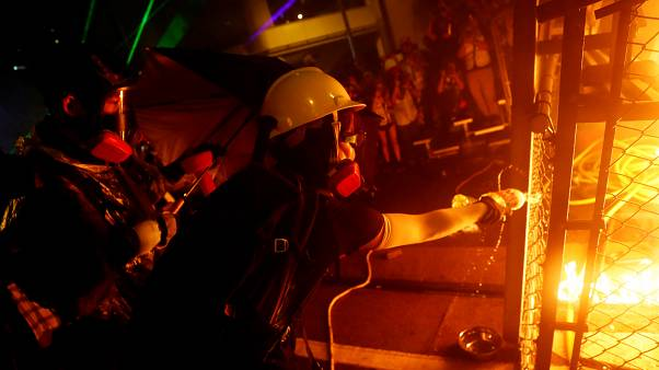 Watch: Petrol bombs and tear gas as Hong Kong protests turn violent