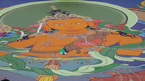 Unveiling of giant Buddha Thangka kicks off Sho Dun Festival off in Tibet