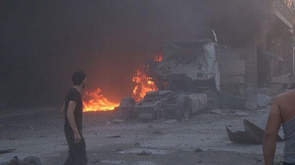 Suriye'de hükümetin ateşkes ilan ettiği İdlib'i bu kez ABD vurdu