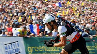 () competes in show biathlon during the Martin Fourcade Nordic Festival in Annecy, France, on august 31, 2019, Photo Philippe Millereau / KMSP