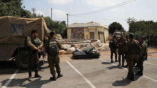 Izraeli katonák Zar'it közelében