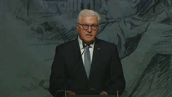 الرئيس الألماني  فرانك فالتر شتاينماير يطلب الصفح في احتفال بذكرى الهجوم النازي ععلى بلدة فيلون البولندية