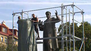 Prágában gond van egy szovjet szoborral