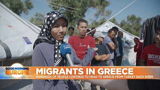 Total of 546 migrants arrive on Greek island of Lesbos in the space of only an hour