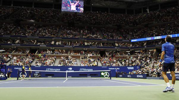صورة من بطولة الولايات المتحدة المفتوحة للتنس في مركز أوستا الوطني للتنس.