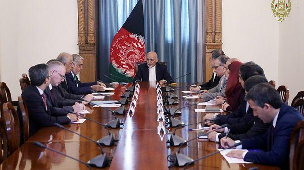 دیدار رئیس جمهوری افقانستان با هیئت مذاکره کننده آمریکایی