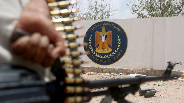 رشاش ثبت على آلية عسكرية تابعة للمجلس الانتقالي الجنوبي