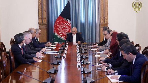 Afganistan Cumhurbaşkanı Eşref Gani, ABD'nin Afganistan Özel Temsilcisi Zalmay Halilzad'ı kabul etti