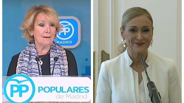 """Aguirre y Cifuentes, expresidentas de la Comunidad de Madrid, imputadas """"por organización criminal"""""""