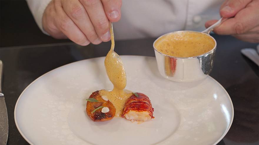 The surprising mix of lobster and Japanese sake produced by Michelin starred chef Arnaud Lallement