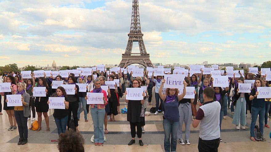 ویدئو؛ تظاهرات بر ضد خشونت خانگی علیه زنان در پاریس