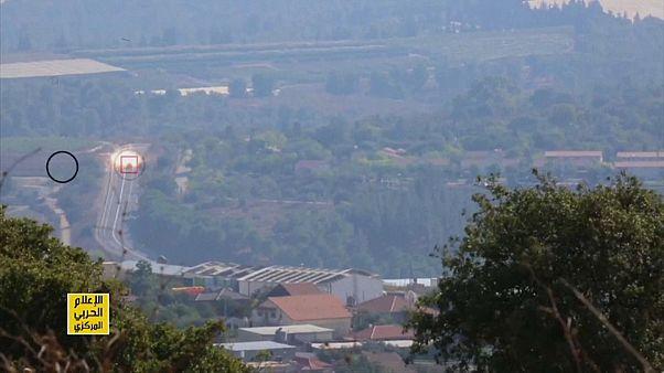 صورة مجتزأة من الفيديو الذي نشره تلفزيون المنار التابع لحزب الله اللبناني