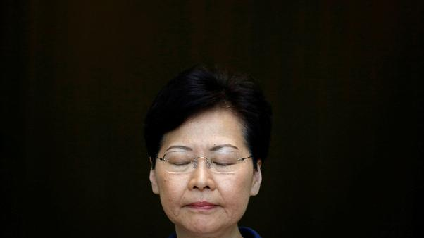 FILE PHOTO: Hong Kong's Chief Executive Carrie Lam attends a news conference in Hong Kong, China August 13, 2019.