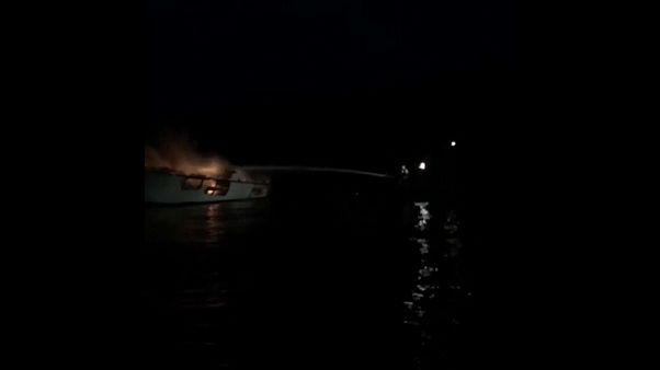 Californie : incendie à bord d'un navire