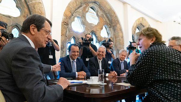 Η Ειδική Απεσταλμένη του ΓΓ των ΗΕ  στο Κυπριακό Προεδρικό Μέγαρο