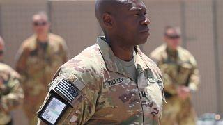 A NATO Resolute Support Mission küldetés amerikai tagja az afganisztáni Herátban május 29-én