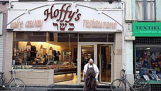 Hoffy's kosher deli and restaurant in Antwerp, Belgium