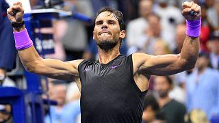 Rafael Nadal im Viertefinale der US-Open