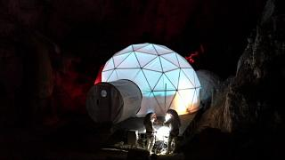Watch: Tourists experience life on Mars in a cave in Spain