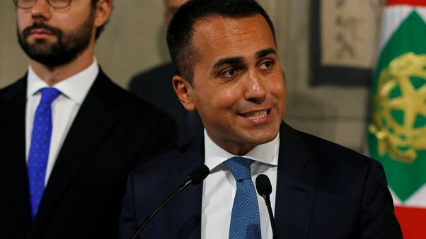 FILE PHOTO: 5-Star Movement leader Luigi di Maio speaks to the media after consultations with Italian President Sergio Mattarella in Rome