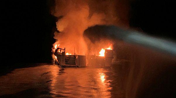 آتش گرفتن قایق غواصی در سواحل کالیفرنیا ۳۴ کشته برجای گذاشت