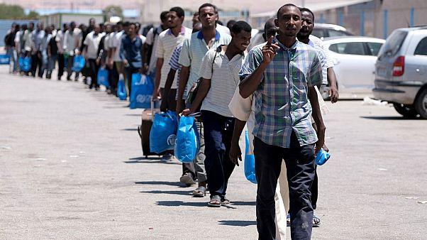لاجئون في ليبيا- أرشيف رويترز
