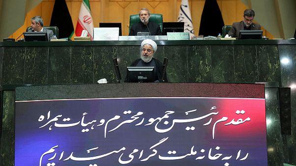 İran Cumhurbaşkanı Hasan Ruhani mecliste konuştu