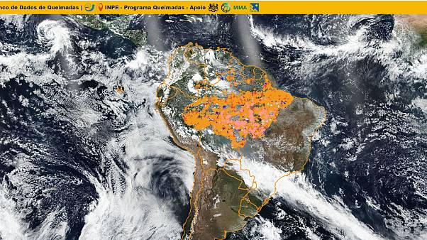 Fires in the Amazon in August 2019.