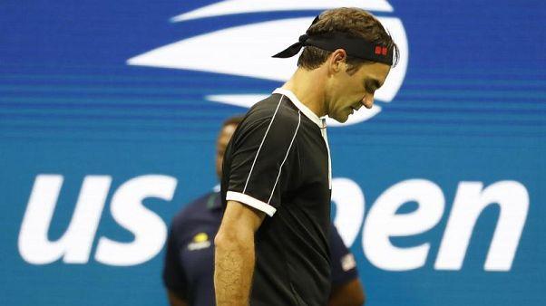 La delusione di Roger Federer.