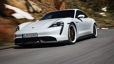 Porsche Taycan, the company's first production electric vehicle