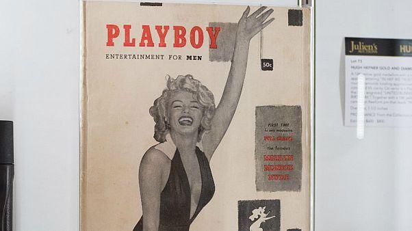 صورة لأول غلاف لمجلة بلاي بوي