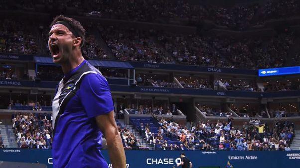 9ème journée de l'US Open : Roger Federer battu par Grigor Dimitrov