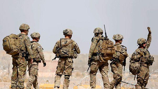 Afganistan'ın Uruzgan kentinde görev yapan Amerikan askerleri