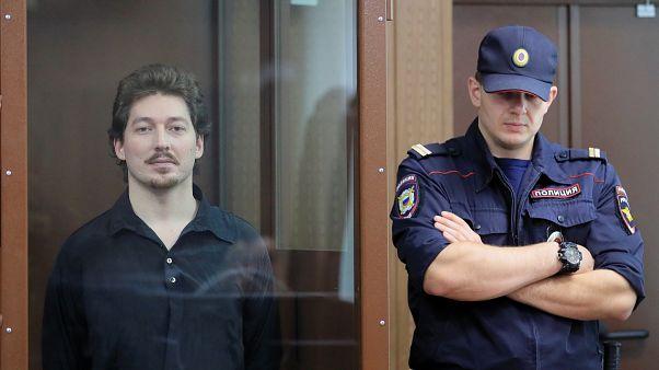 Кирилл Жуков в зале суда