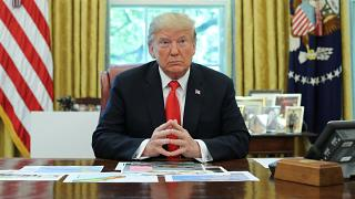 الرئيس الأميركي، دونالد ترامب، في المتكب البيضاوي في البيت الأبيض